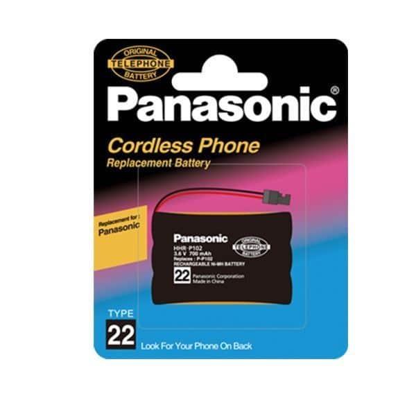 مشخصات فنی باتری تلفن بی سیم پاناسونیک مدل P102