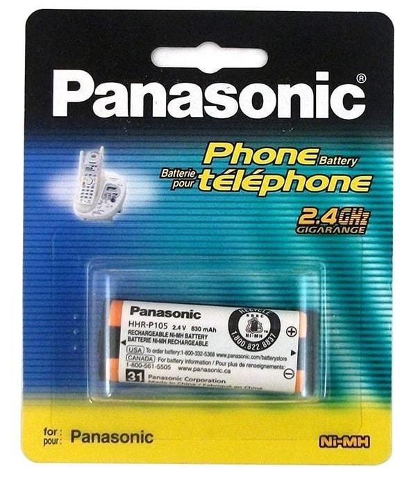 معرفی اجمالی باتری تلفن بی سیم پاناسونیک مدل HHR-P105