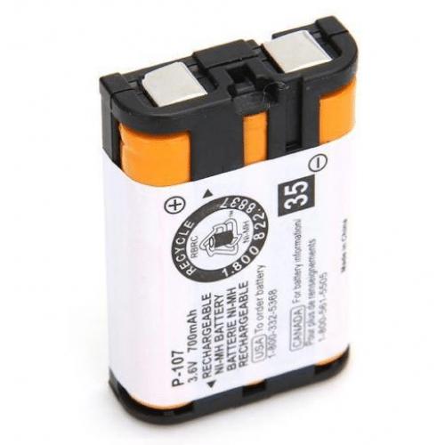قرار دادن تلفن بی سیم روی پایه شارژ بر روی باتری P107